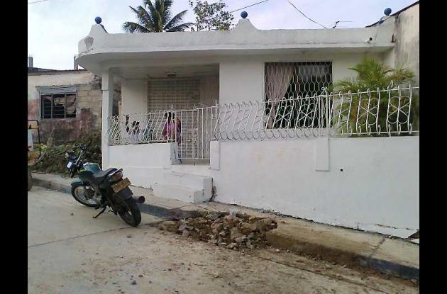 Esta era la casa de la señora Ligia López, madre de Emiro Pupo López.