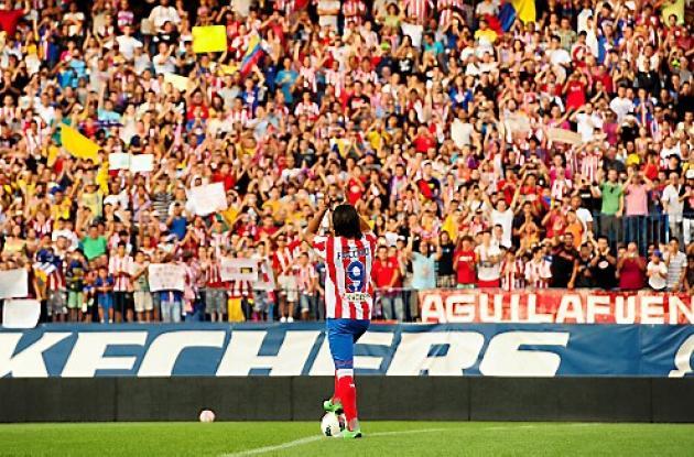 Falcao García con 5 tantos comparte el liderato de goleadores en España.