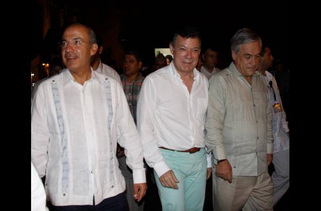 Recorrido de presidentes en centro histórico de Cartagena