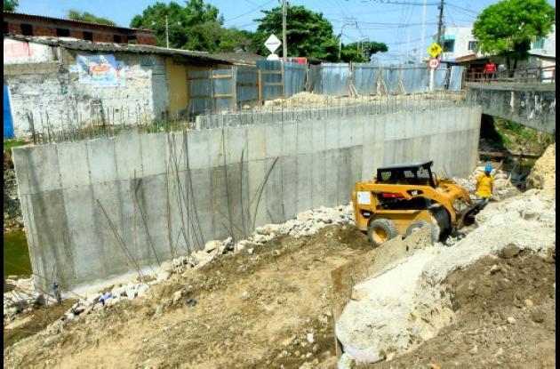 Ampliación de canales pluviales en Cartagena para afrontar invierno.