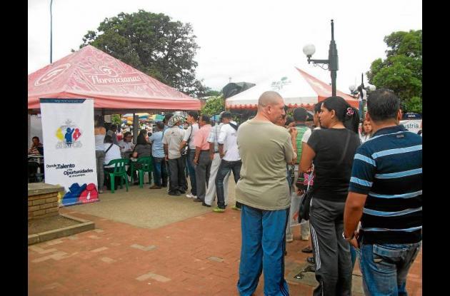 Feria de empleo del Sena.
