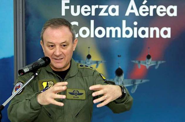Flavio Enrique Ulloa, segundo comandante de la Fuerza Aérea Colombiana, FAC.
