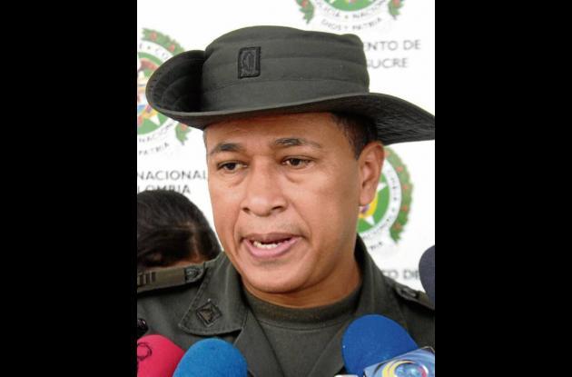 Comandante Policía Sucre, Coronel Orlando Polo Obispo.