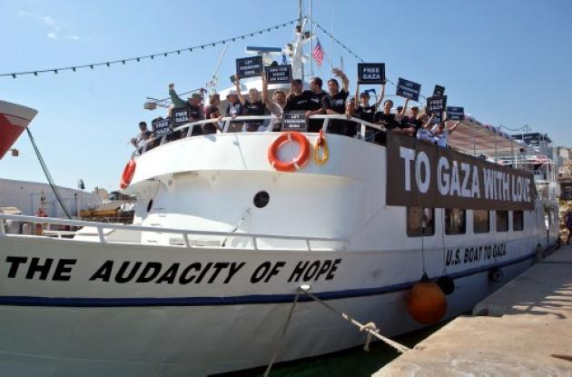 Denuncian saboteo a barcos de flotilla humanitaria hacia Gaza.
