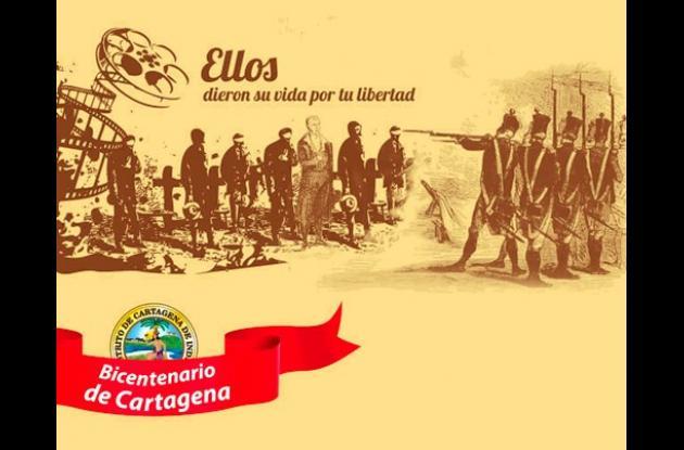 Afiche del Bicentenario de Independencia de Cartagena.