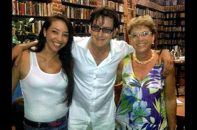 Charlie Sheen pasa vacaciones en Cartagena.