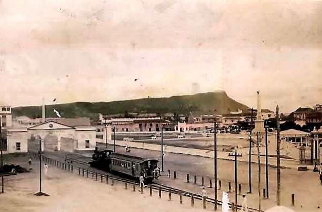 La imagen corresponde al Centro de Cartagena en 1944.