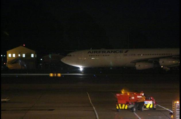 Llegada a Bogotá del avión vuelo AF 422 de la compañía Air France