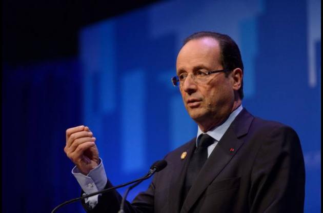 Francois Hollande, presidente de Francia.