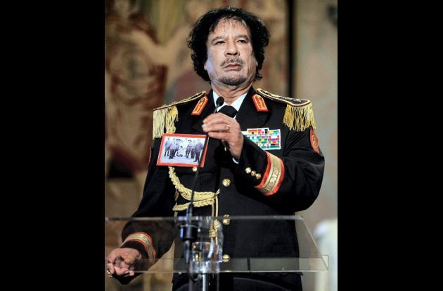 Líder libio Muamar al Gadafi.