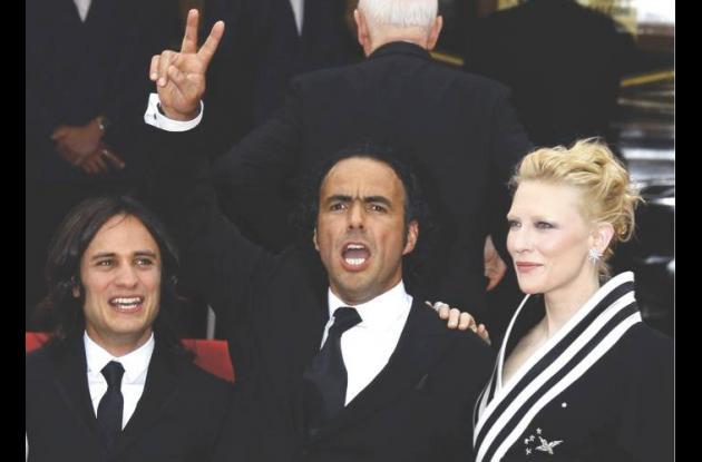 Gael García, Alejandro González  Iñárritu  y Cate Blanchett.