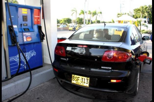 Aumento precio de la gasolina en Colombia.