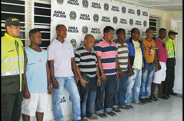 Los ocho sujetos capturados responderán por los delitos de concierto para delinq