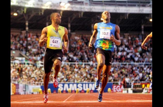 Tyson Gay y Usain Bolt