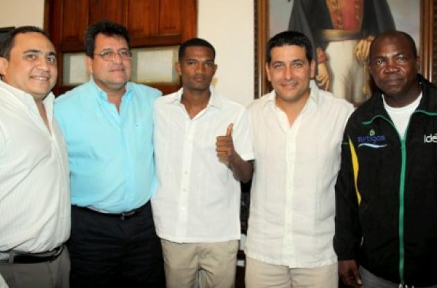 Aspectos de la reunión en el despacho de la Gobernación de Bolívar.