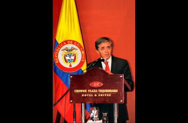 El ministro de Transporte Germán Cardona.