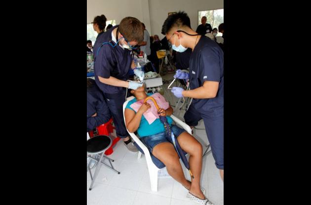 Brigada odontológica de la Fundación Granitos de Paz