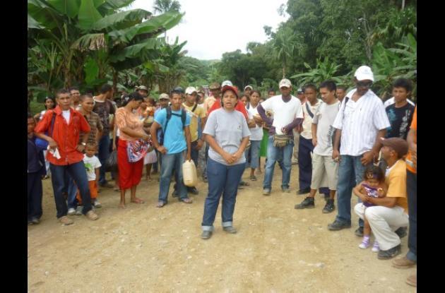 desplazados de Guamanda, corregimiento de El Carmen de Bolívar.