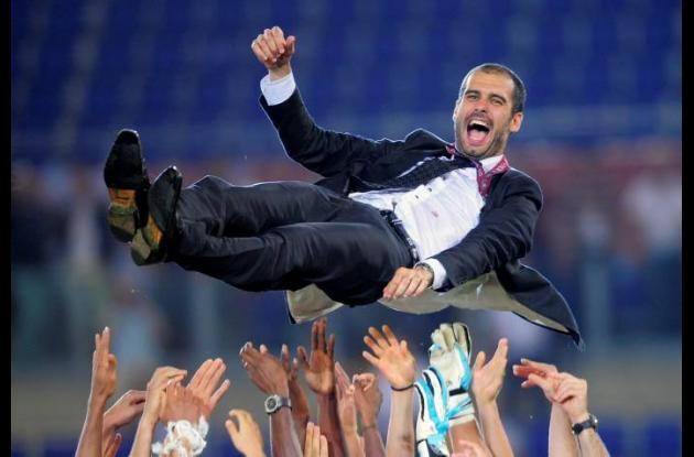 Josep Guardiola, DT del Barcelona.