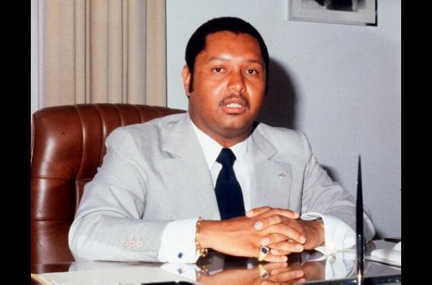 El derrocado dictador Jean-Claude 'Baby Doc' Duvalier