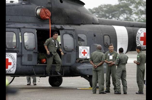 Helicópteros del Comité Internacional de la Cruz Roja (CICR) que irán por los se