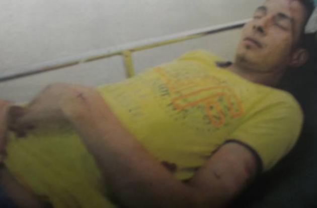Elver Mendoza, herido en hechos violento registrado en Montería.
