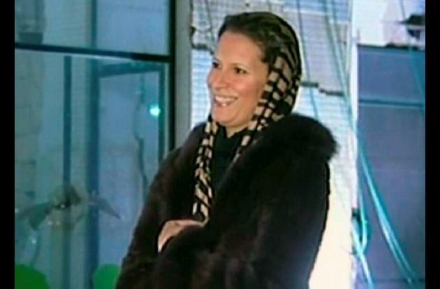 Aisha, hija del líder libio Muamar al Gadafi.