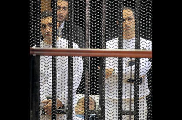 Los hijos de Mubarak tienen una fortuna en bancos suizos.