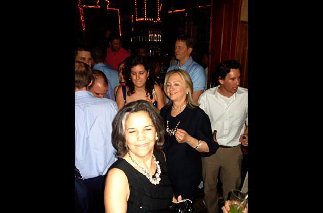 La secretaria de Estados de Estados Unidos, Hillary Clinton, se fue de rumba a L
