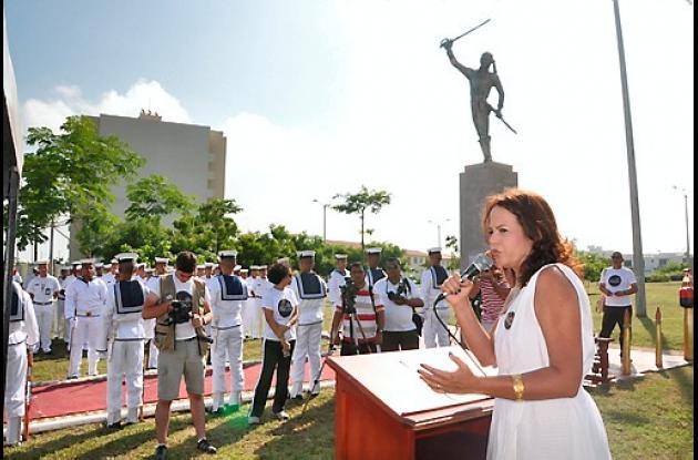 Homanaje a José Prudencio Padilla en Barranquilla.