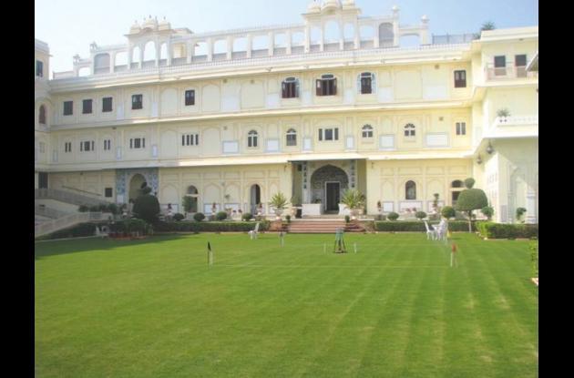The Raj Palace Hotel.