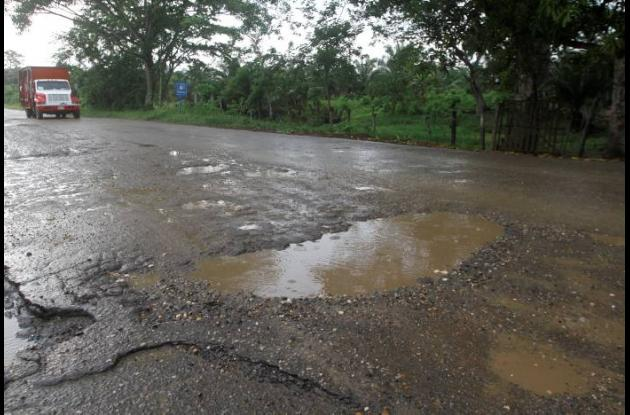 Según Invías, unos 4 kilómetros de la carretera están completamente deteriorados