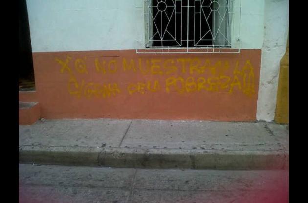 Graffitis en viviendas de Getsemaní