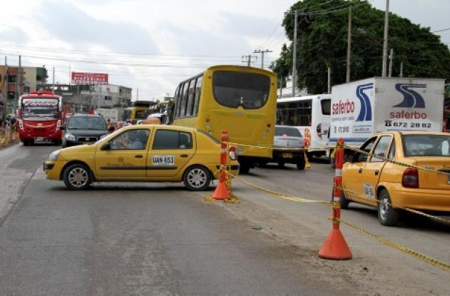 Imprudencia de taxistas