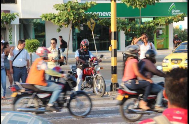 Sorpresa por imprudencias de motociclistas.
