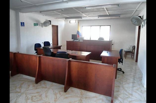Sala de audiencias del Juzgado Segundo Promiscuo Municipal de El Carmen de Bolív