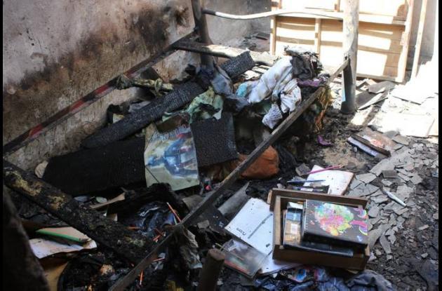 Dos niñas resultaron quemadas durante un incendio
