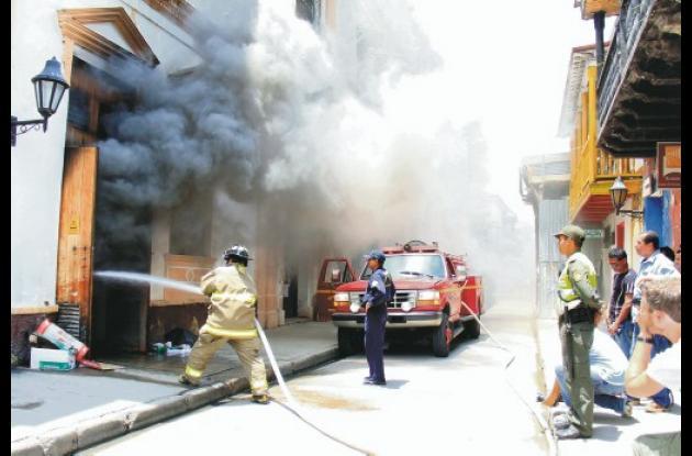 incendio en el Centro