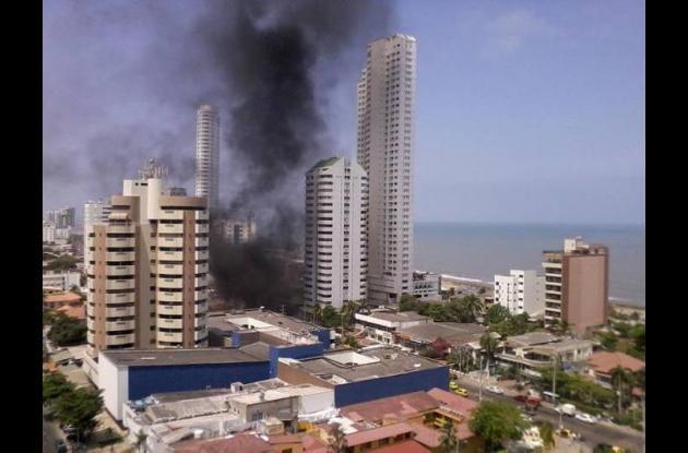 incendio Bocagrande