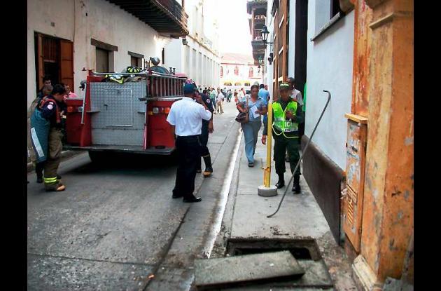 incendio en centro histórico de Cartagena