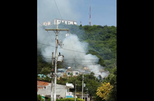 Incendio en La María