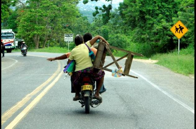 Motocicletas: vehículos de carga