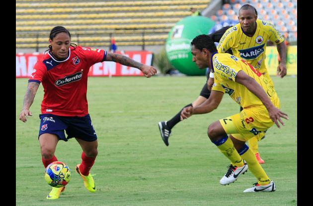 Partido entre el Deportivo Medellín y Pasto.