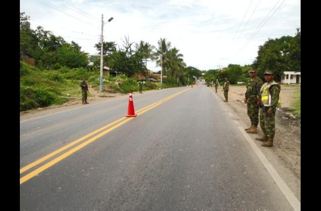 El Batallón de Fusileros de Infantería de Marina Nº3 en la vía.