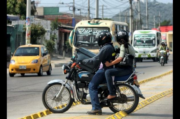 Infracciones de tránsito en vías de Cartagena.