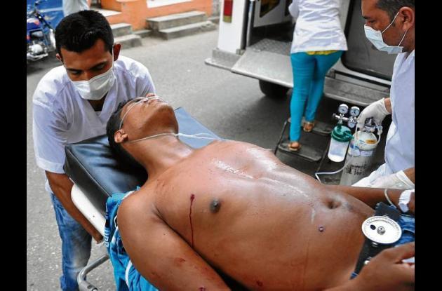 Juan Manuel Mercado Soler, herido.