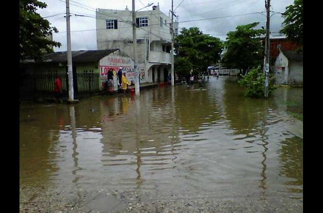 Inundaciones en barrio El Pozón de Cartagena