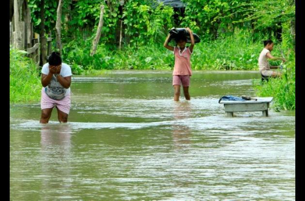 El Barrio Abajo de Gambote está inundado