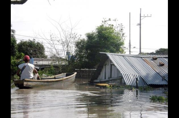 inundaciones en el sur de Bolívar.