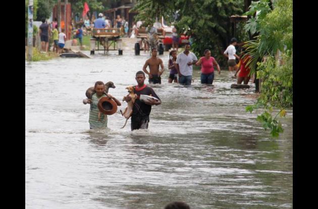 inundaciones en el pozon, cartagena